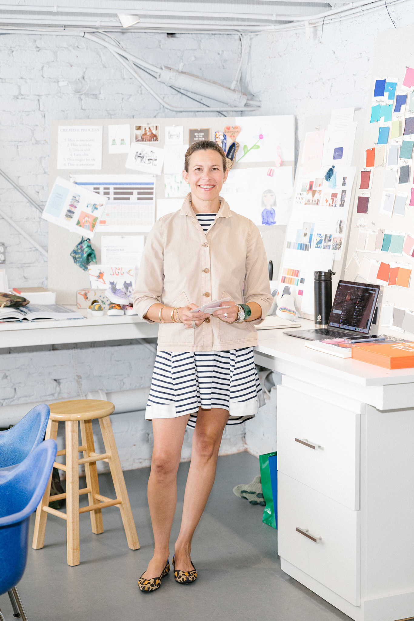 Rothy's shoes creative director Erin Lowenberg at their headquarters in San Francisco, CA, June 4, 2019. Jason Henry for WWDErin Lowenberg of Rothy's in her studio.