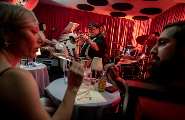 Guests can dine and drink Champagne, plus a range of sake varieties and cocktails, while watching live music at Special Club.
