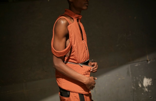 Backstage at A-Cold-Wall Men's Spring 2020 photographed in London on 10 June 2019