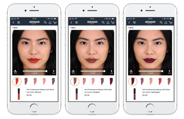 ModiFace's virtual lipstick try-on for Amazon.