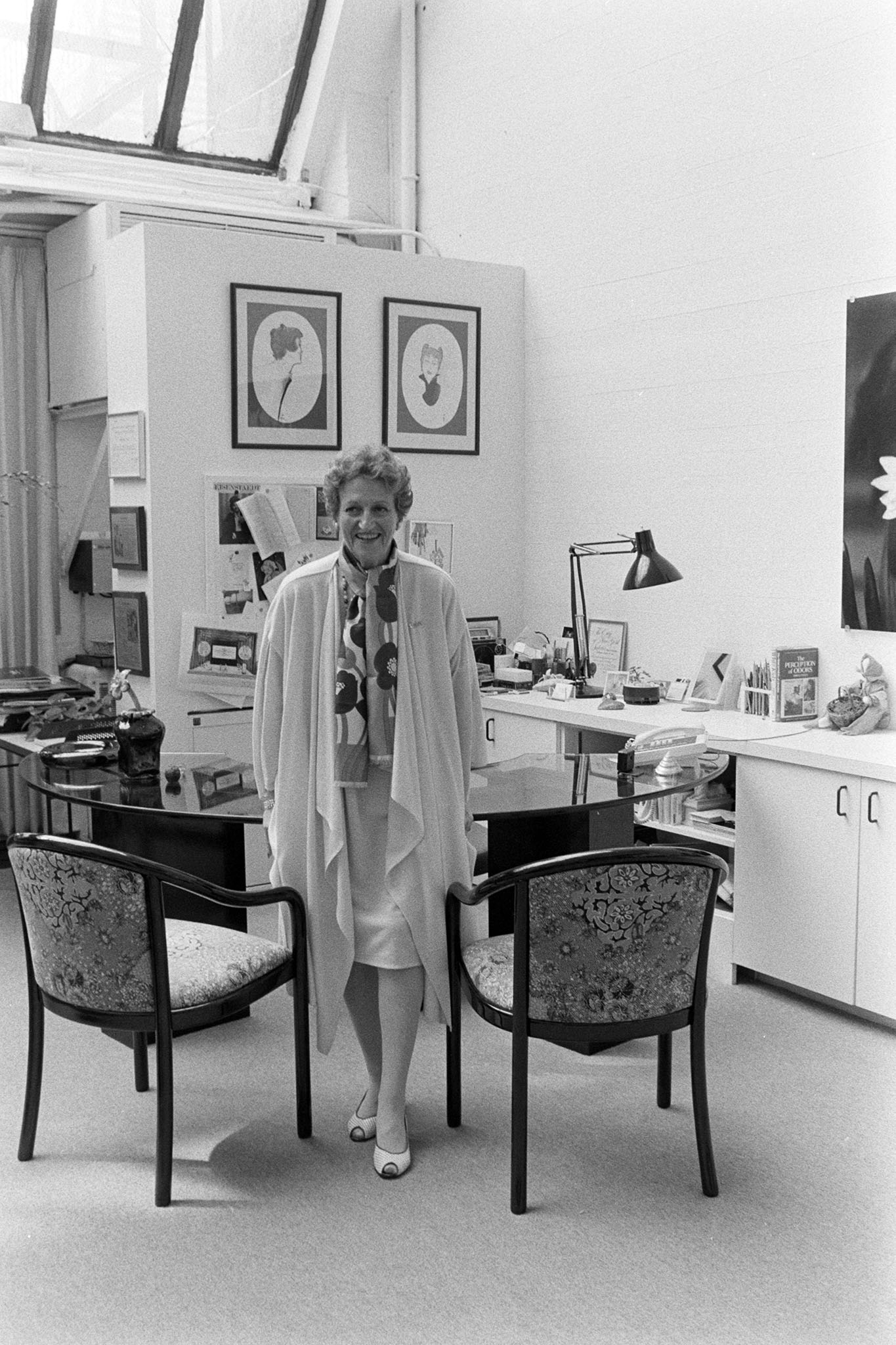 Annette Green at the new Fragrance Foundation headquarters in 1985.