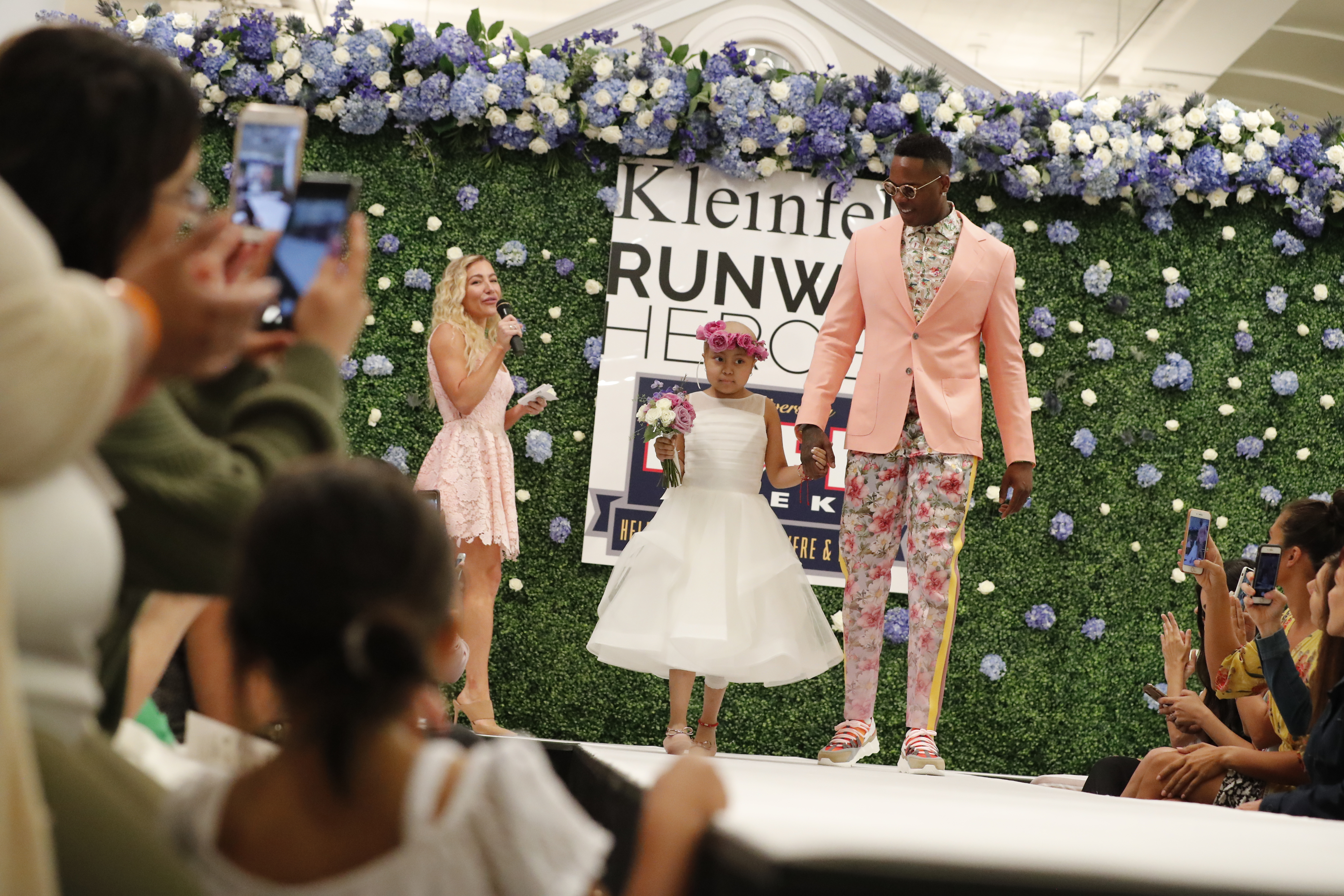 Yankees General Manager Brian Cashman and Yankees players Didi Gregorius, Aroldis Chapman, Luis Severino, Clint Frazier, Kendrys Morales and Domingo Germán will join Runway Heroes founder Rachel Goldman to surprise children with cancer and their families for a fashion show at the iconic Kleinfeld Bridal. The Yankees will help the children prepare for their big day in the spotlight and then escort them down the runway. Fashion designer Hayley Paige will emcee the show.