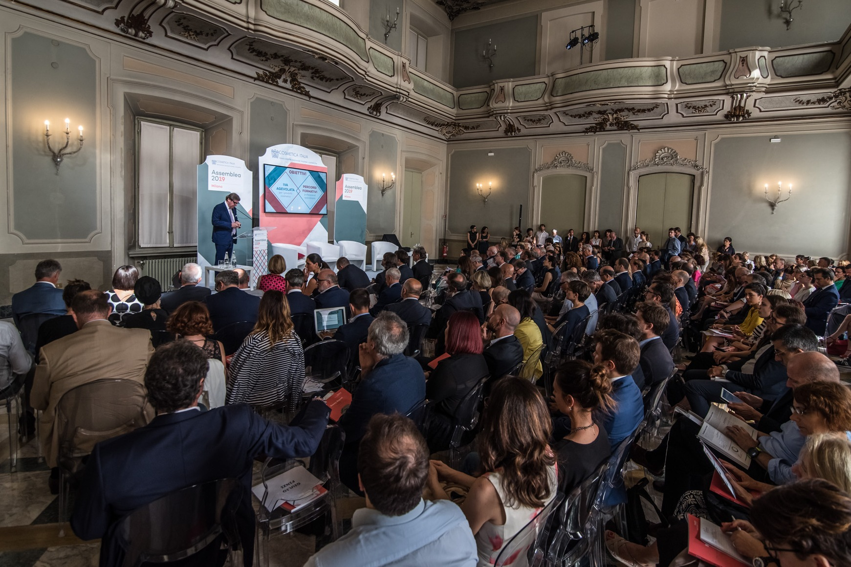 The Cosmetica Italia assembly in Milan.