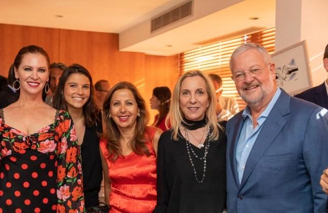 Leslie Zemeckis, Justine Hutteau, Karine Ohana, Susan Rockefeller and David Rockfeller