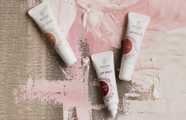 Lip balms by one of Germany's most popular eco-beauty brands, Weleda.