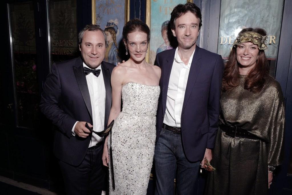 Benjamin Patou, Natalia Vodianova, Antoine Arnault and Cordelia de Castellane