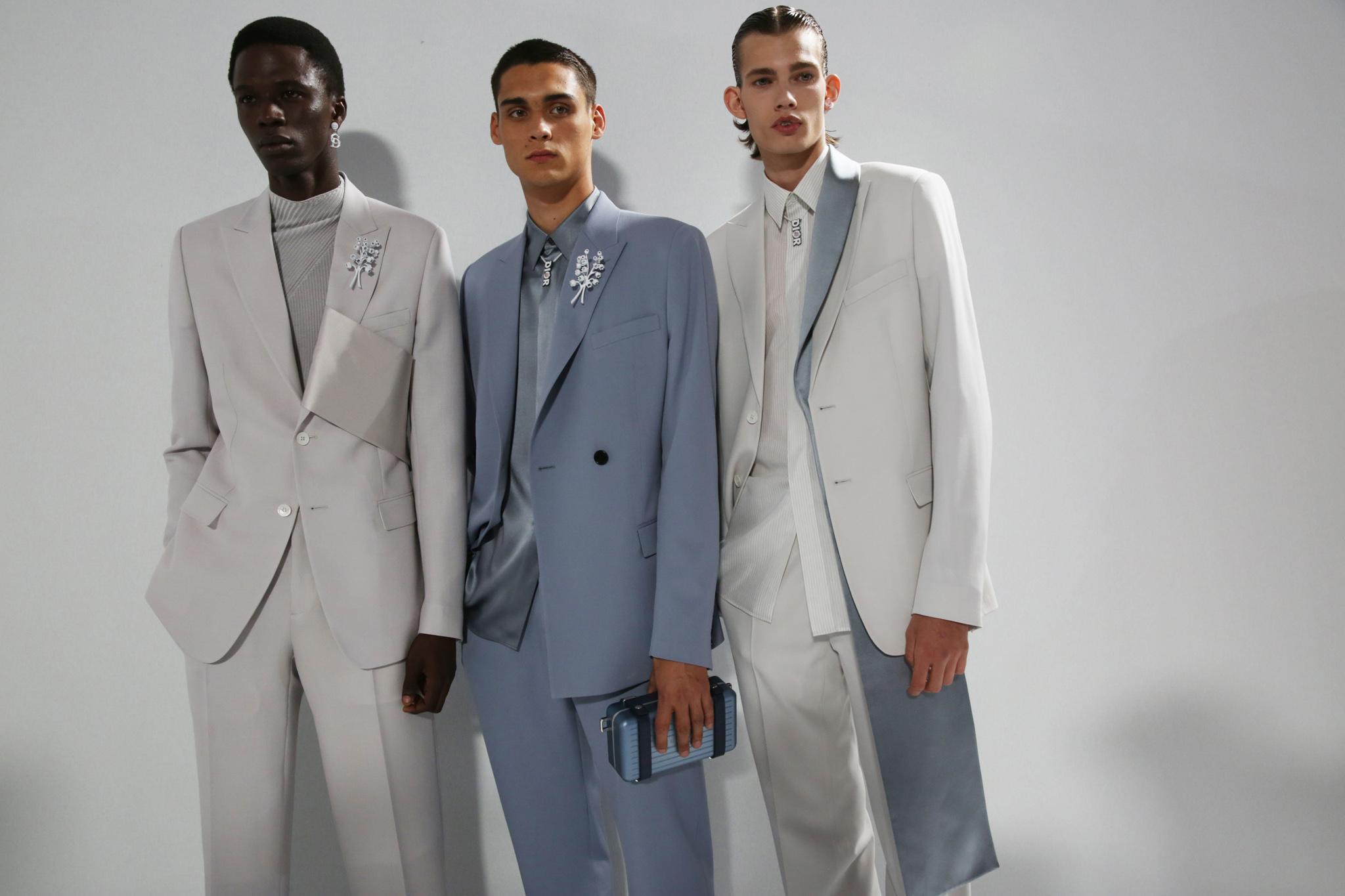 Backstage at Dior Men's Spring 2020