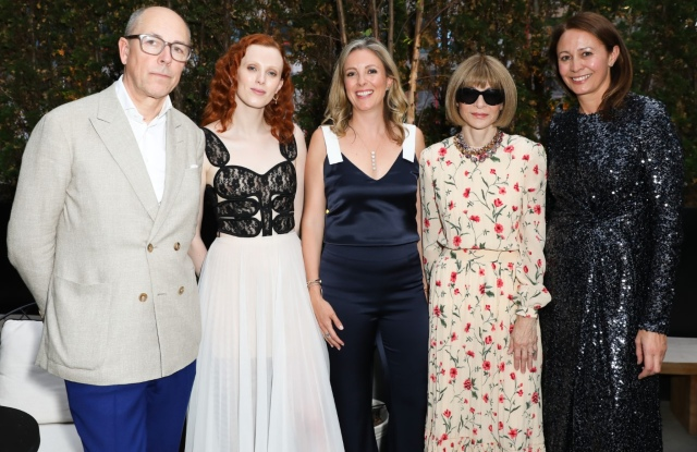 Dylan Jones, Karen Elson, Stephanie Phair, Anna Wintour and Caroline Rush.