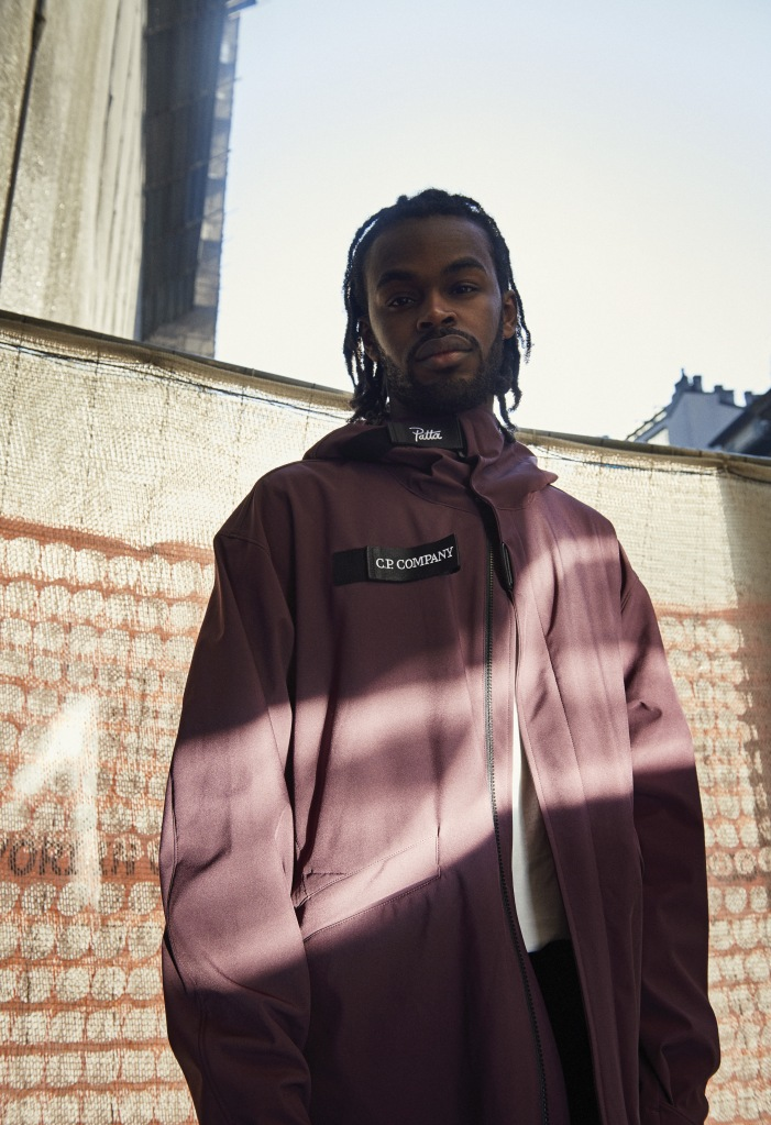 A look from the C.P. Company x Patta capsule collection.