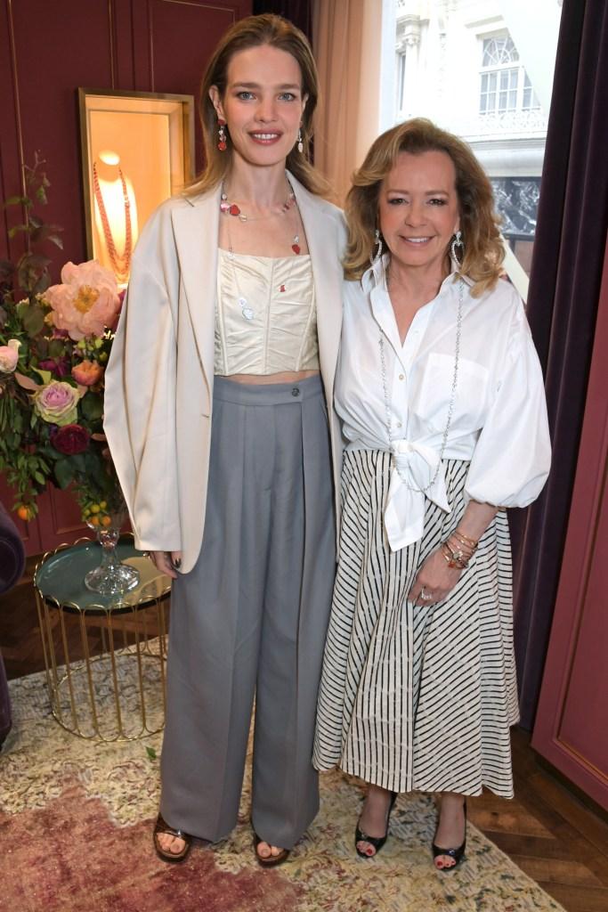 Natalia Vodianova and Caroline Scheufele