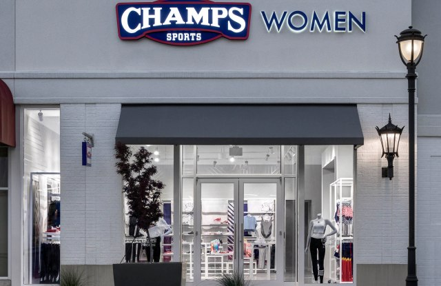 Champs Sports Women's in-store shop.