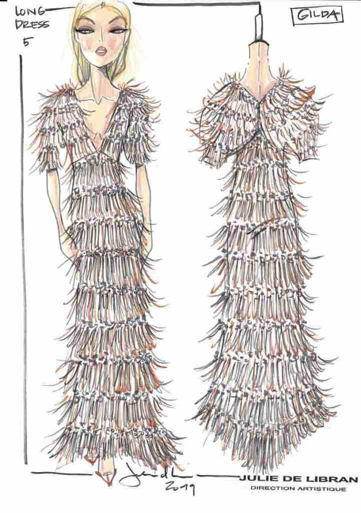 A sketch for the Dress by Julie de Libran line.