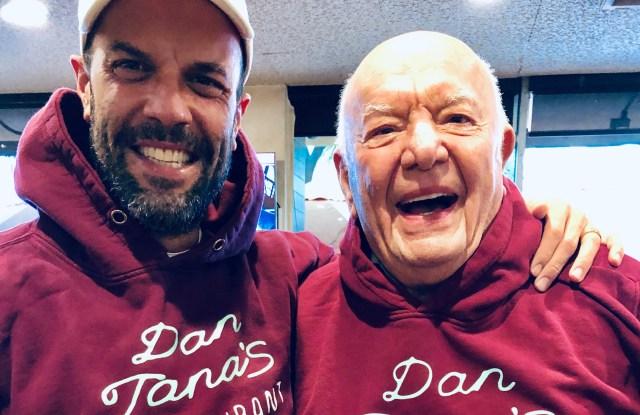 Cloney designer Duke Christian George, left, and Dan Tana.