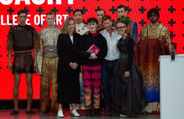 Brian Mc Lysaght from Edinburgh College of Art took home three awards, including the top prize Christopher Bailey Collection of the Year Award.