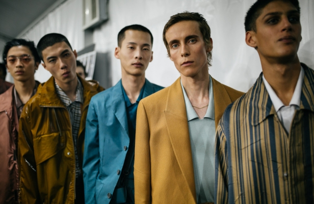 Backstage at Ermenegildo Zegna Men's Spring 2020