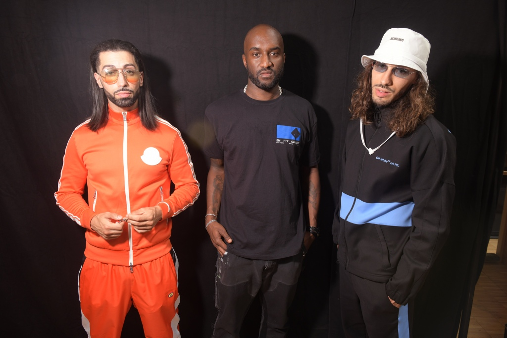 Ademo and N.O.S of French rap duo PNL with Virgil Abloh