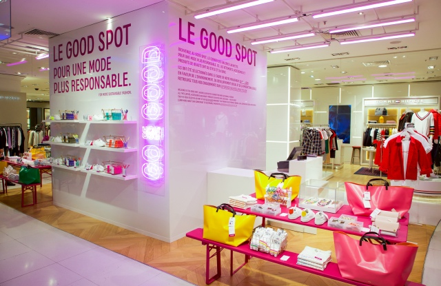 A 'Go for Good' space in Galeries Lafayette