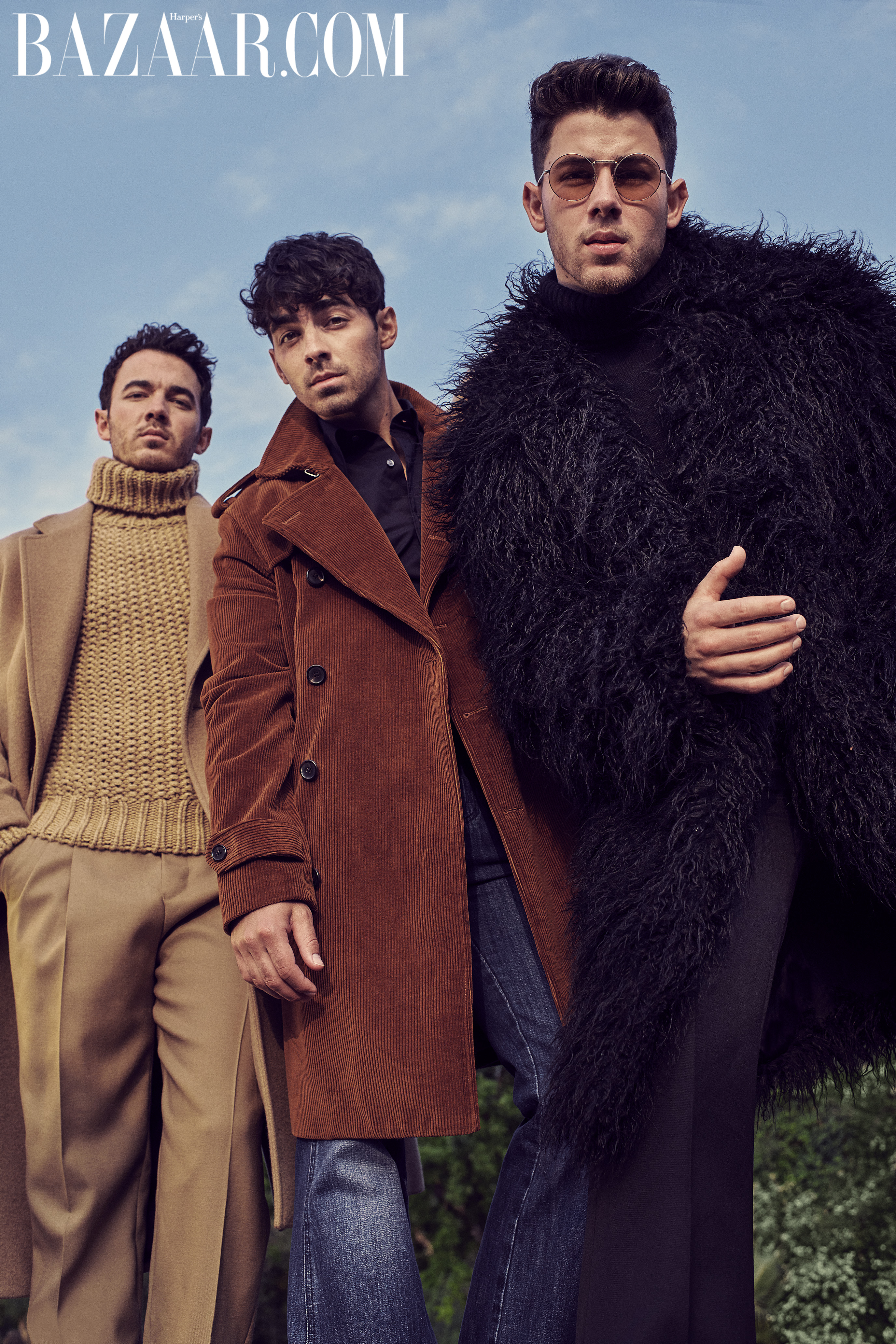 Kevin, Joe and Nick Jonas photographed by Eric Ray Davidson for Harper's Bazaar.