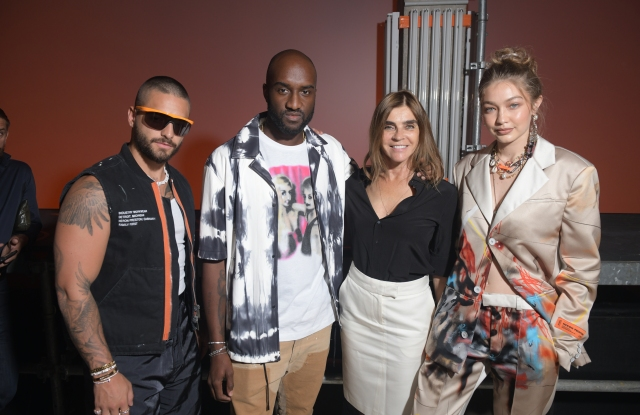 Maluma, Virgil Abloh, Carine Roitfeld and Gigi Hadid