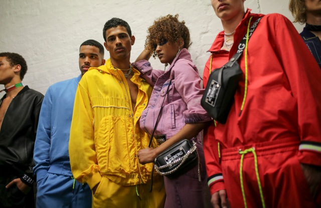 Backstage at Iceberg  Men's Spring 2020 photographed in London on 08 June 2019