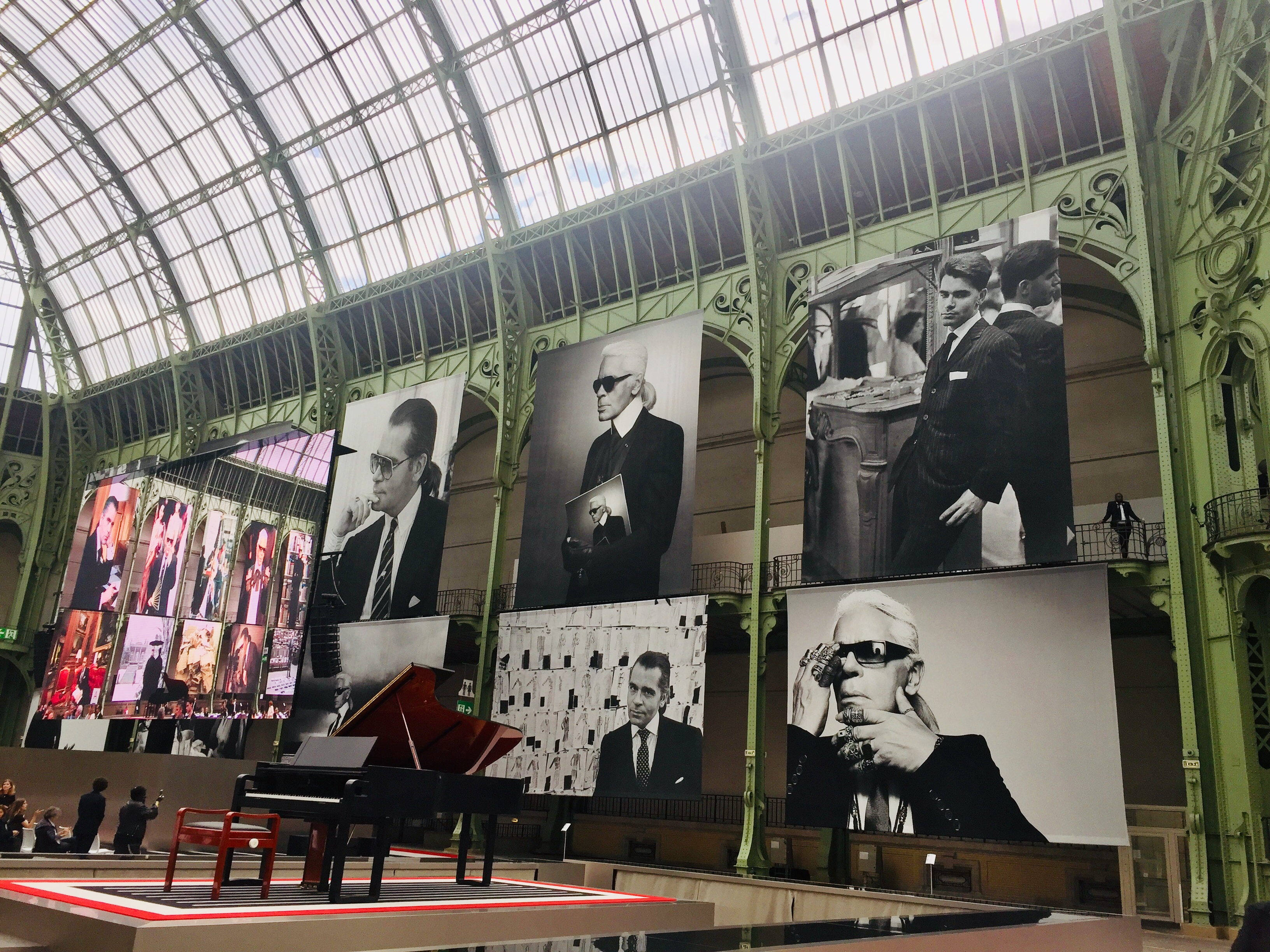 The set at the Karl for Ever celebration in Paris
