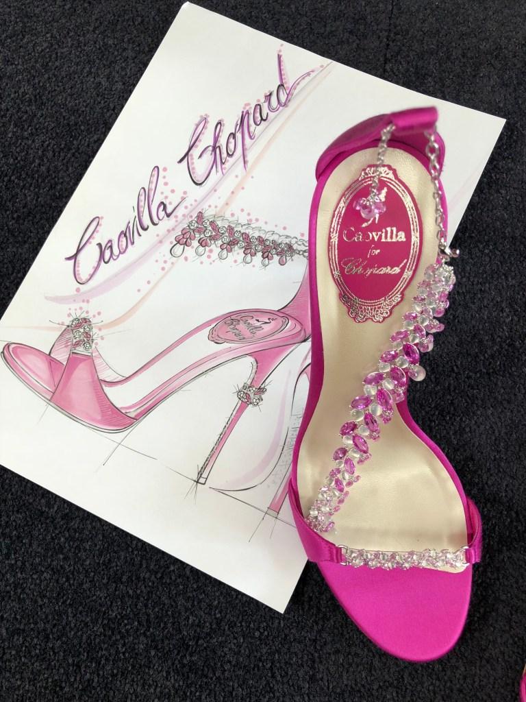 The René Caovilla for Chopard sandal style.