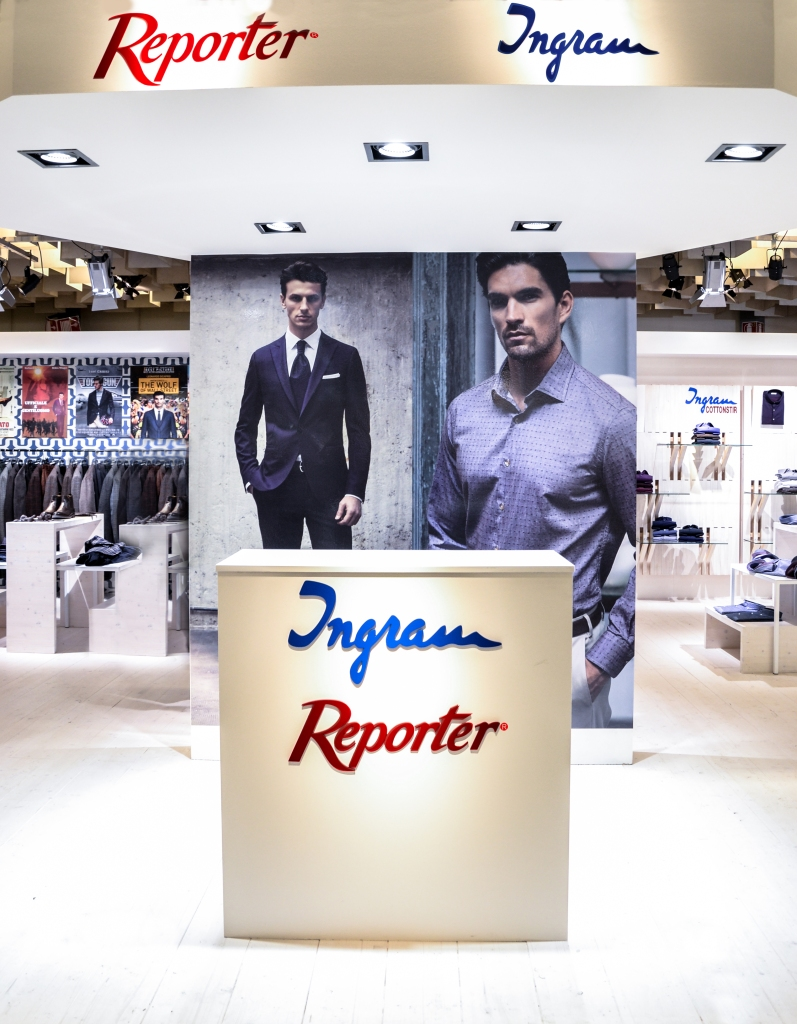 An archival image of Ingram's booth at Pitti Uomo.
