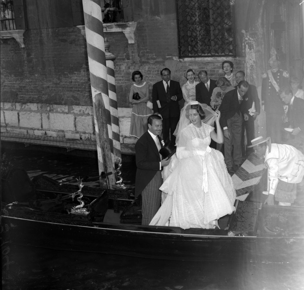 Princess Ira Von Furstenberg Marries Prince Alfonso Of Hohenlohe-langenburg In Venice. Seen Leaving The Church.Princess Ira Von Furstenberg Marries Prince Alfonso Of Hohenlohe-langenburg In Venice. Seen Leaving The Church.