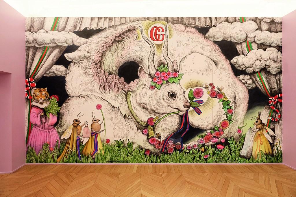 The artwork by Yuko Higuchi.