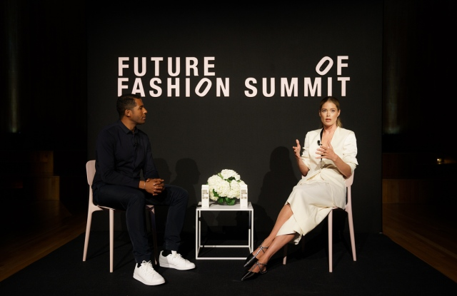 Hassan Pierre and Doutzen Kroes at The Future of Fashion summit.