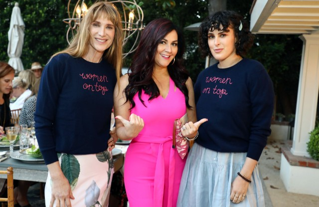 Left to right: Kelly Lynch, Cindy Eckert and Rumer Willis.