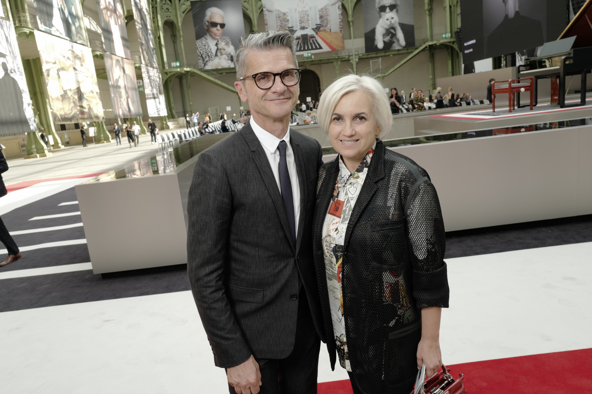 Serge Brunschwig and Silvia Venturini Fendi