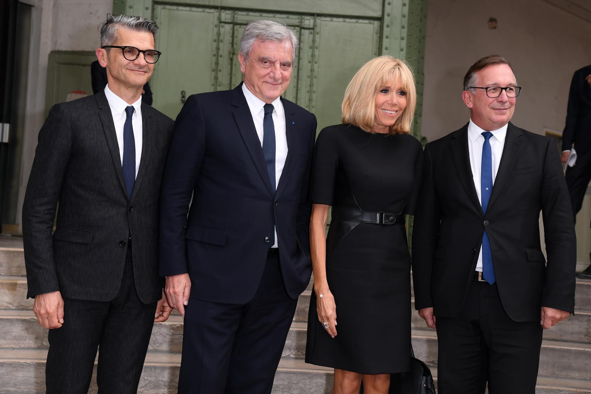 Bruno Pavlovsky (President of Chanel), Brigitte Macron and Sidney Toledano