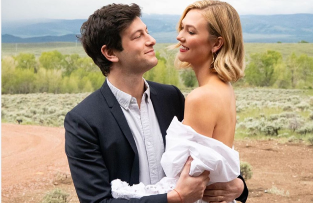 Josh Kushner and Karlie Kloss at their Wyoming wedding.