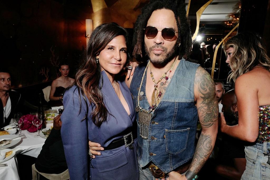 Laurie Lynn Stark and Lenny Kravitz