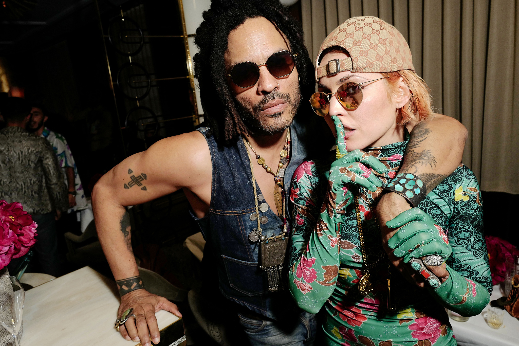 Lenny Kravitz and Noomi Rapace