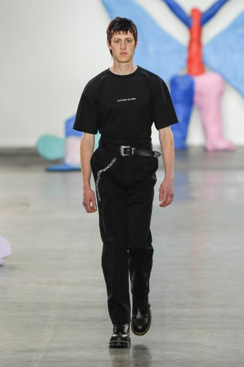 Liam Hodges Men's Spring 2020 photographed in London on 08 June 2019