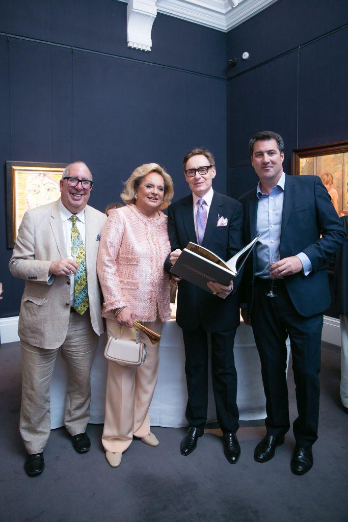 Luigi Bonomi, Ira von Furstenberg, Nicholas Foulkes and Charlie Redmayne