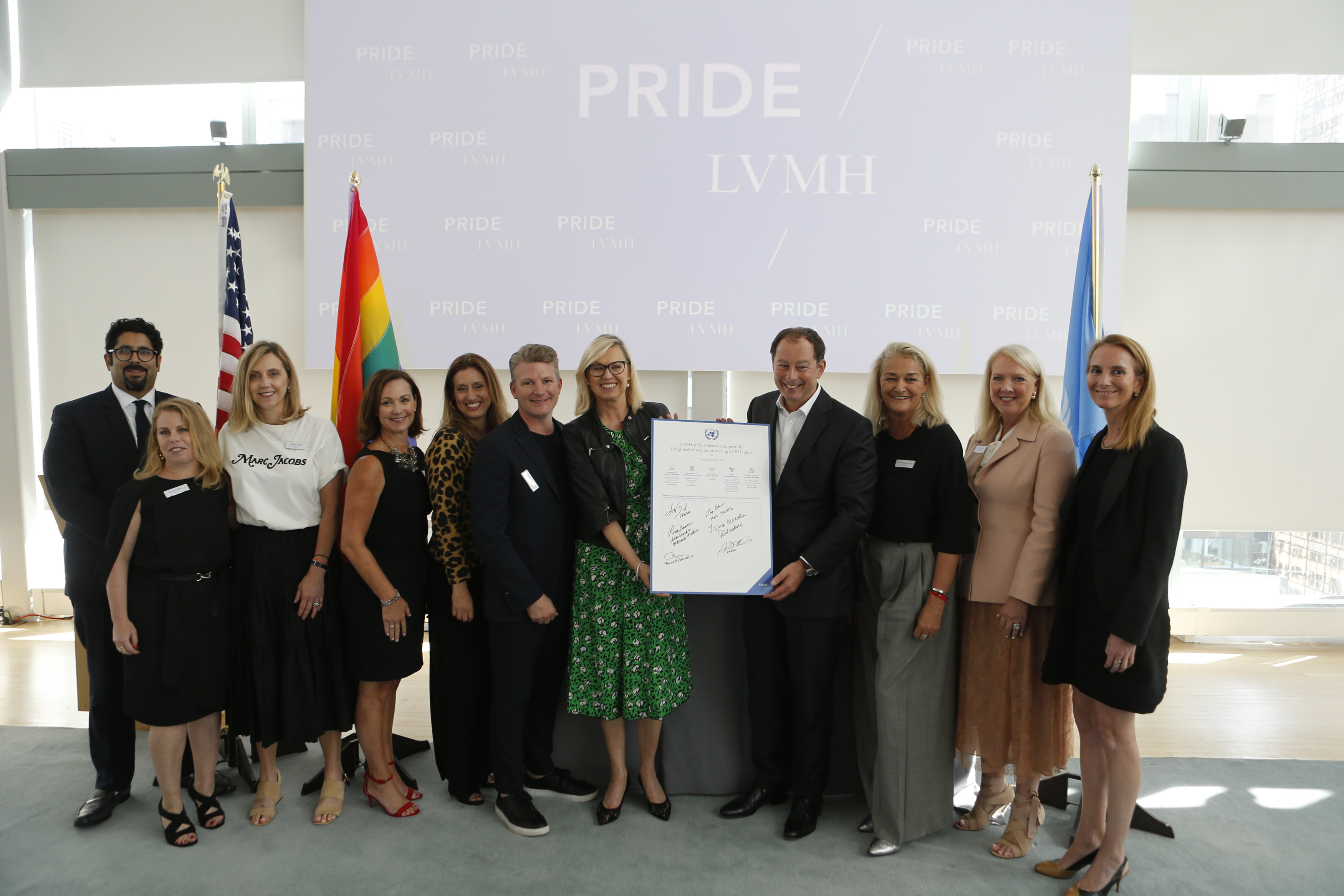 On the occasion of World Pride Month, LVMH and Maisons' US executives sign the United Nations Standards of Conduct, joining the fight against LGBTI discrimination.