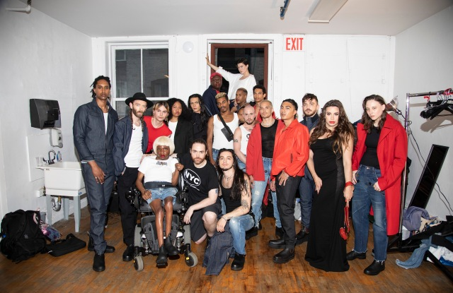 Willie Norris and the all-queer cast of models for the Willie Norris Workshop show.