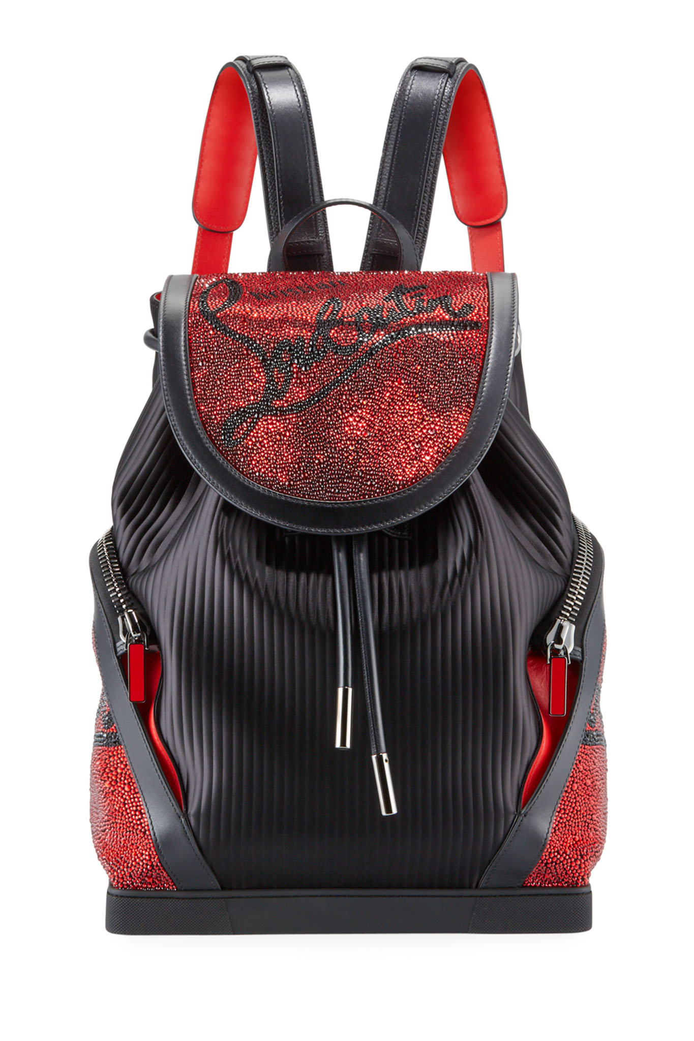 A Christian Louboutin backpack.