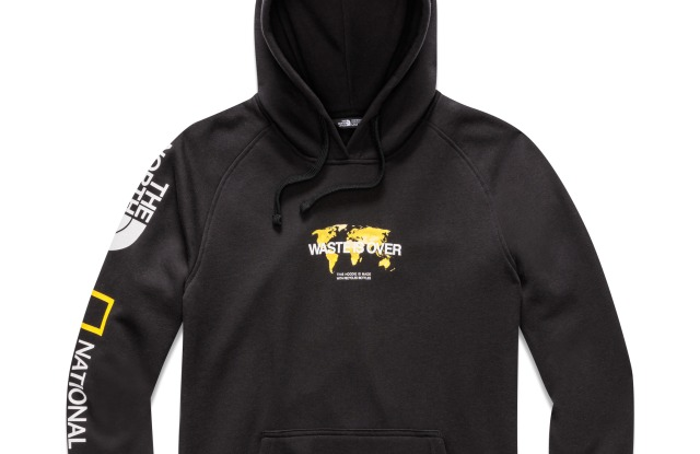 A hoodie from The North Face and National Geographic capsule.