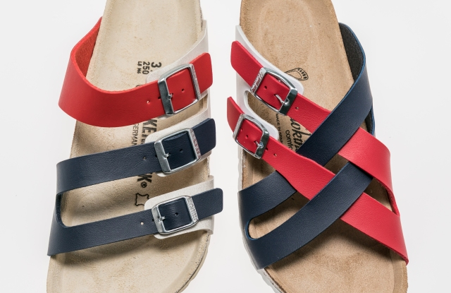 Image of Birkenstock and Hawkins shoes