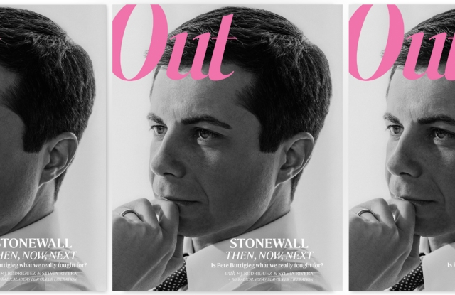 Out Magazine, June 2019, with presidential candidate Pete Buttigieg on the cover.