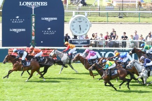 Prix de Diane Longines horse race in Chantilly, France