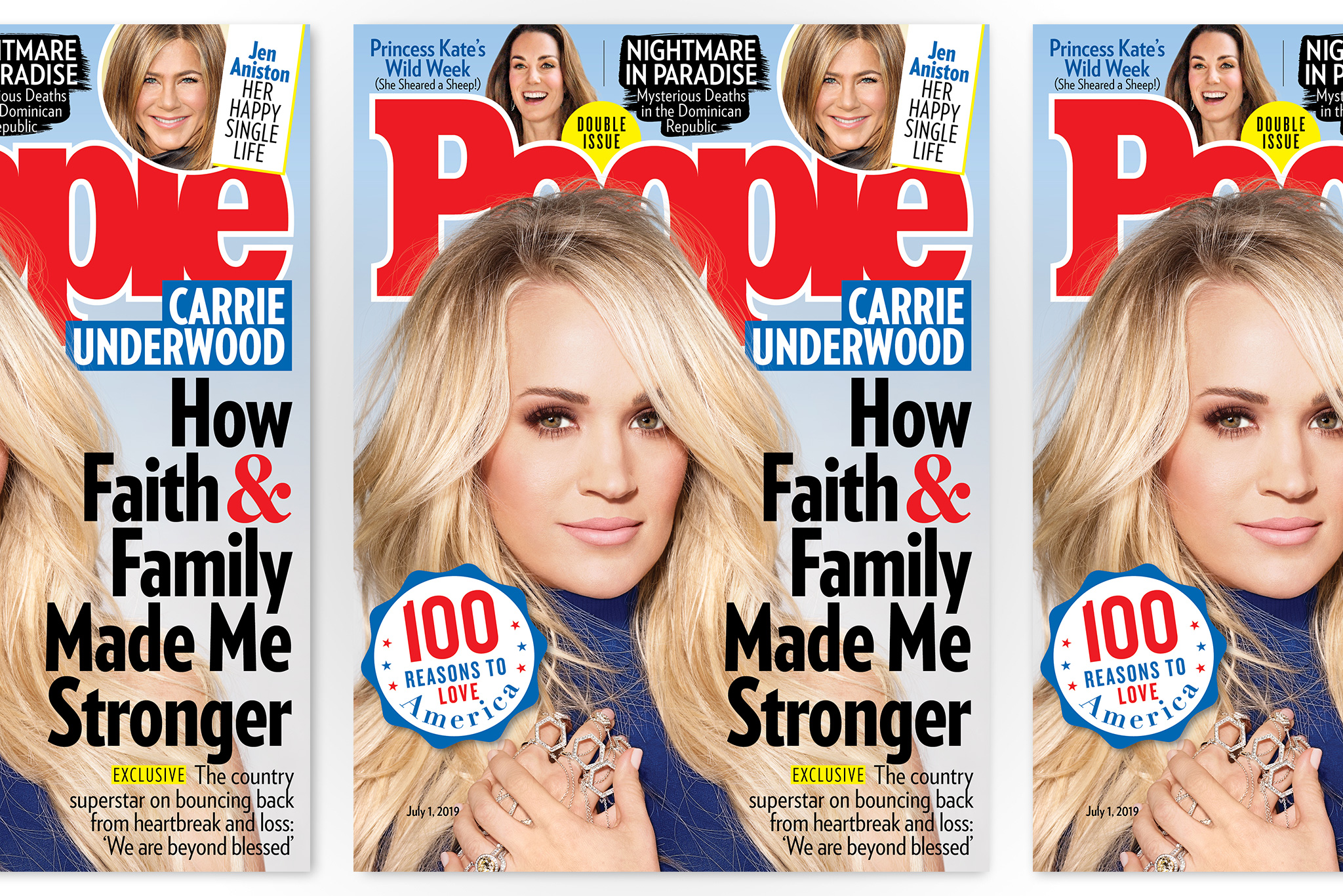A June 2019 issue of People magazine featuring Carrie Underwood.
