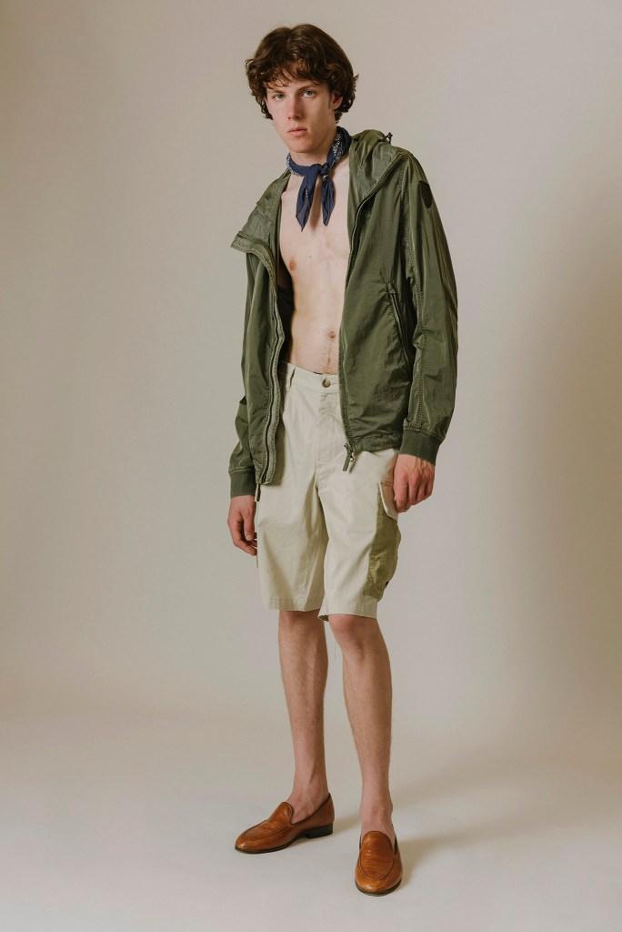 Blauer USA's windbreaker jacket and bermuda shorts.