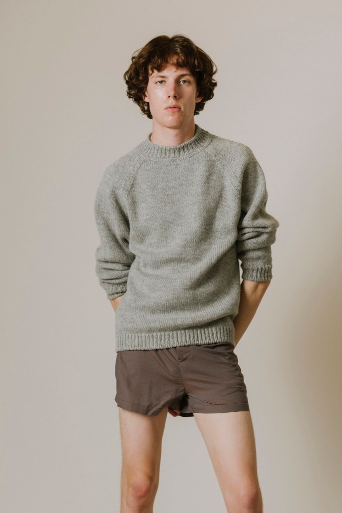 Tom Adam's sweater and shorts.