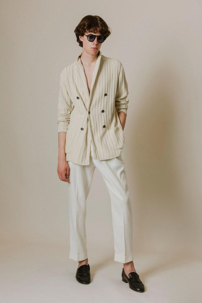 Lardini's blazer and pants.