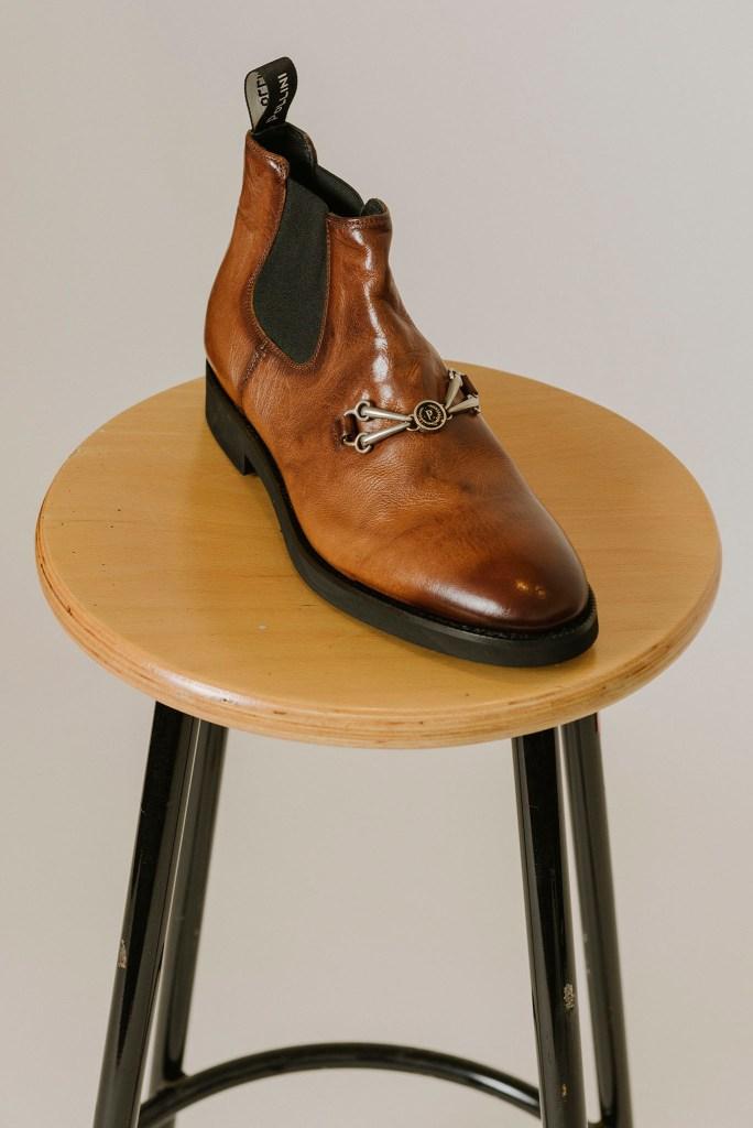 PolliniÕs leather boot.